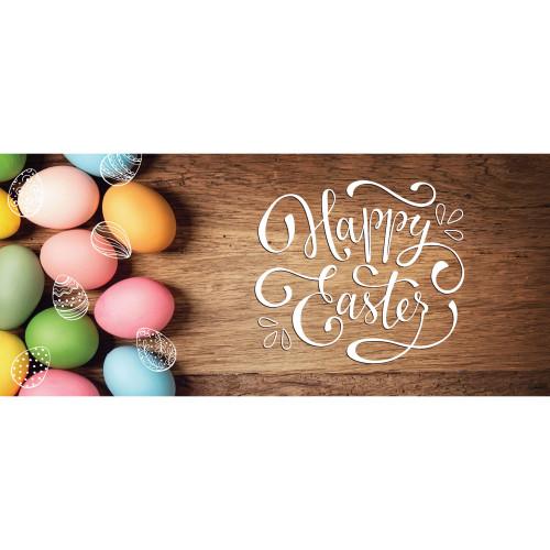 7' x 16' Brown and Pink Easter Eggs Double Car Garage Door Banner - IMAGE 1