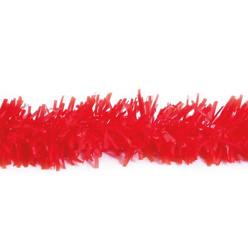 25' Red Metallic Twist Novelty Christmas Garland - IMAGE 1