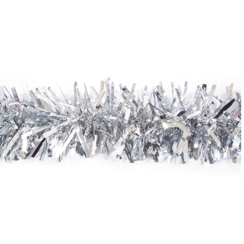 25' Silver Metallic Twist Novelty Christmas Garland - IMAGE 1