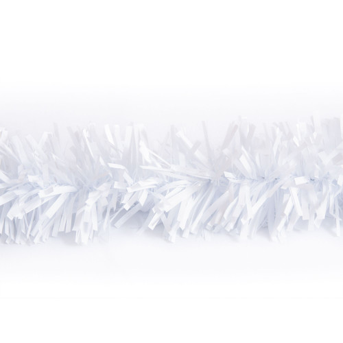 25' White Metallic Twist Novelty Christmas Garland - IMAGE 1