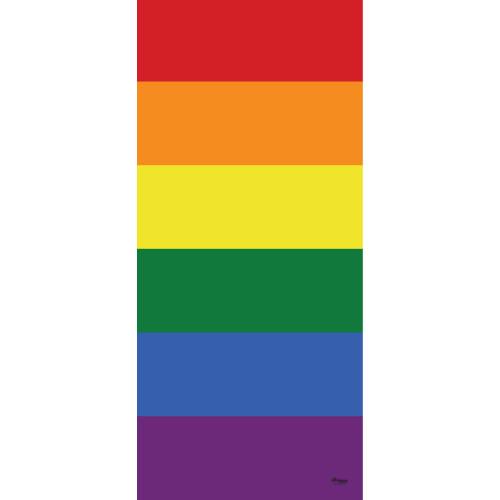 """80"""" x 36"""" Yellow and Red Outdoor Pride LGBT Garage Front Door Banner - IMAGE 1"""