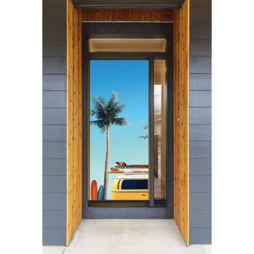 """36"""" x 80"""" Blue and Yellow Car Front Door Banner - IMAGE 1"""