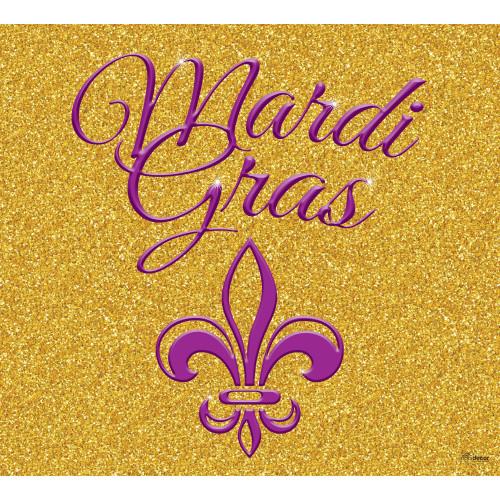 7' x 8' Gold and Purple Glitter Single Car Garage Banner - IMAGE 1