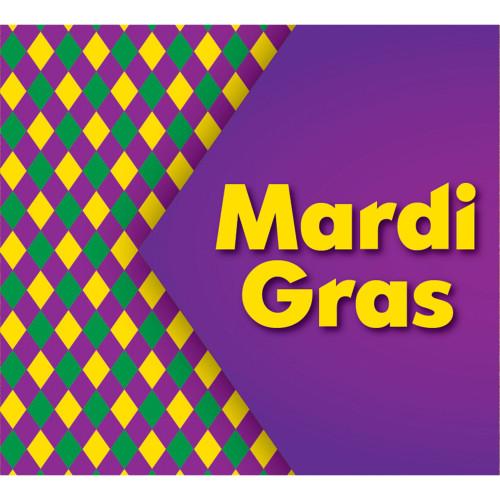7' x 8' Purple and Yellow Mural Diamond Checked Split Car Garage Banner Door - IMAGE 1