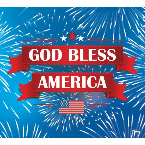 7' x 8' Blue and Red Fireworks Patriotic Single Car Garage Door Banner - IMAGE 1