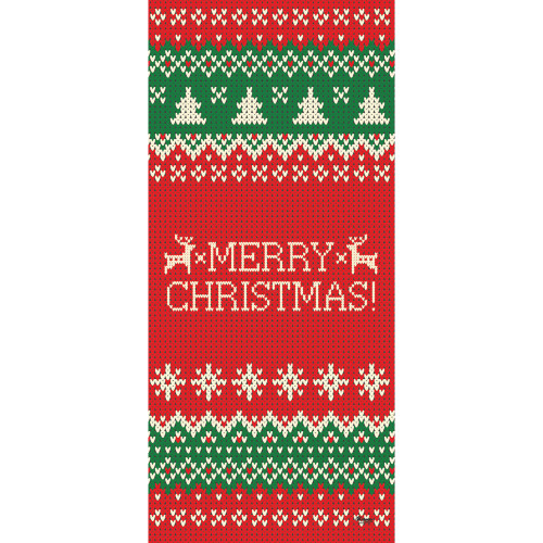 "80"" x 36"" Red and Green Merry Christmas Front Door Banner Mural Sign Decoration - IMAGE 1"