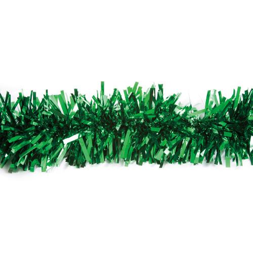 25' Green Metallic Twist Novelty Christmas Garland - IMAGE 1