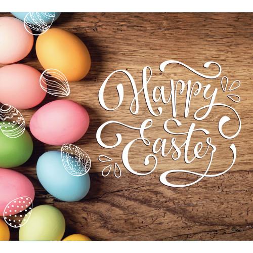 7' x 8' Brown and Pink Eggs Easter Single Car Garage Door Banner - IMAGE 1