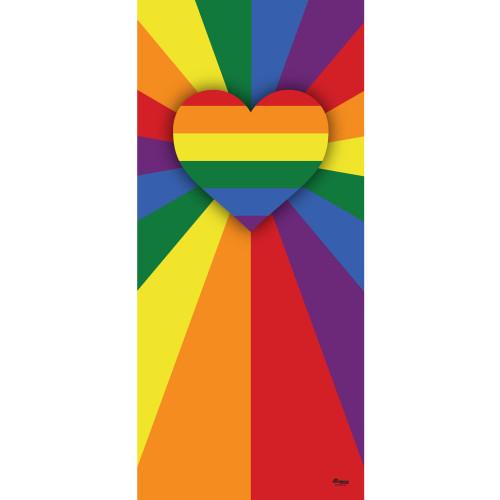 "80"" x 36"" Red and Yellow Outdoor LGBT Garage Front Door Banner - IMAGE 1"