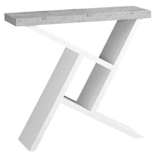 """36"""" White and Gray Contemporary Rectangular Accent Table - IMAGE 1"""