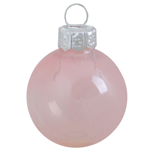 "8ct Pale Pink Glass Ball Christmas Ornaments 3.25"" (80mm) - IMAGE 1"