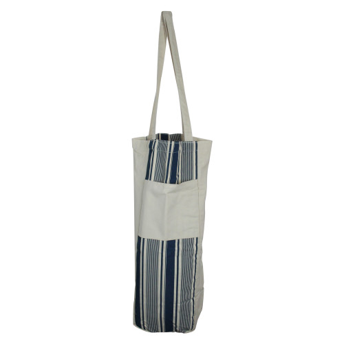 """25"""" Blue and White Striped Hanging Storage Tote Bag - IMAGE 1"""