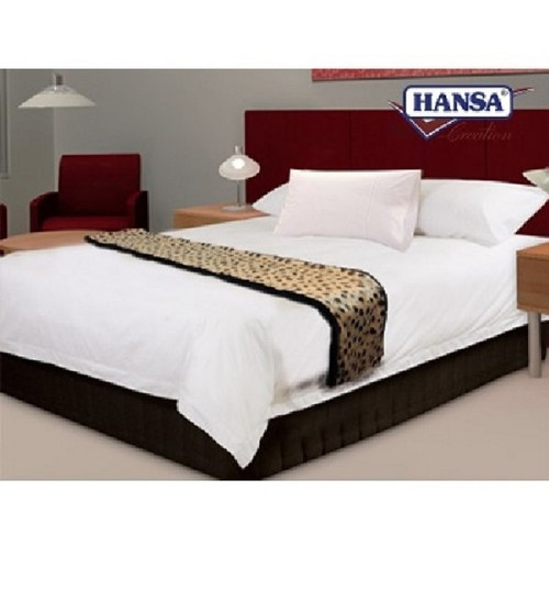 """Set of Four Black and Brown Cheetah Print Bed Runners 74.25"""" - IMAGE 1"""