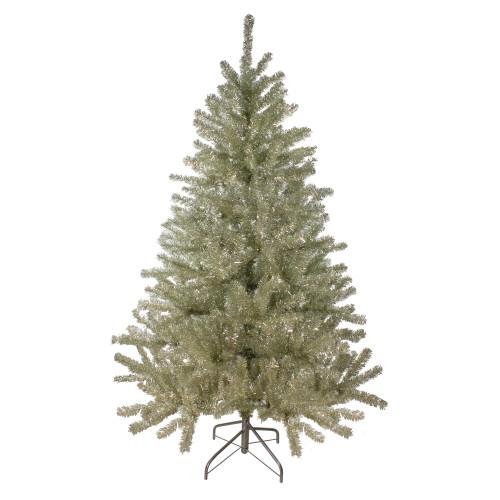 6' Unlit Medium Sheer Champagne Tinsel Artificial Christmas Tree - IMAGE 1