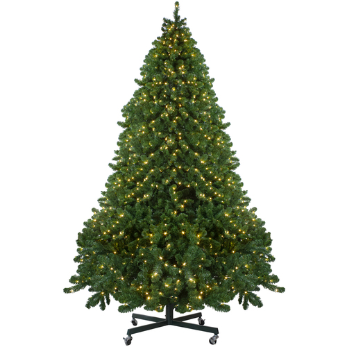 12' Pre-Lit Full Olympia Pine Artificial Christmas Tree - Warm White Lights - IMAGE 1