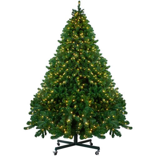 9' Pre-Lit Full Olympia Pine Artificial Christmas Tree - Warm White Lights - IMAGE 1