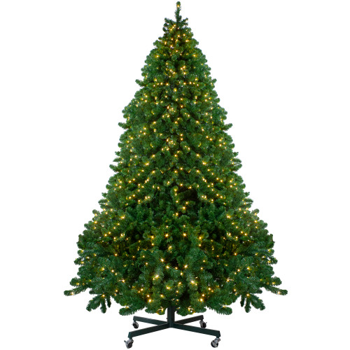 14' Pre-Lit Full Olympia Pine Artificial Christmas Tree - Warm White Lights - IMAGE 1