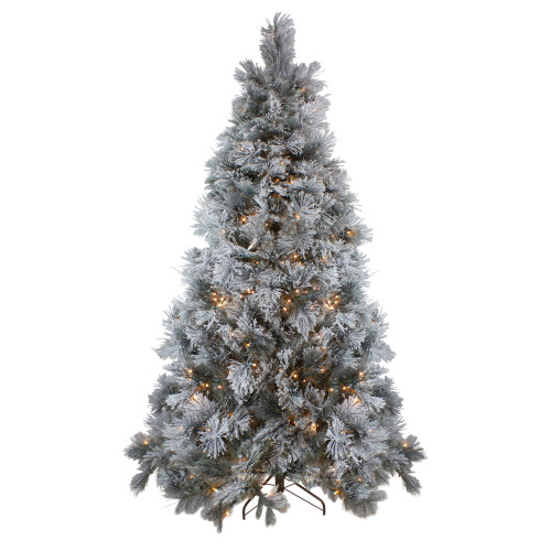 7.5' Pre-Lit Black Spruce Artificial Christmas Tree - Clear LED Lights - IMAGE 1