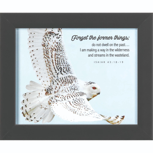 """Blue and Black Bible Verses Printed Framed Wall Art Decor 10"""" x 12"""" - IMAGE 1"""