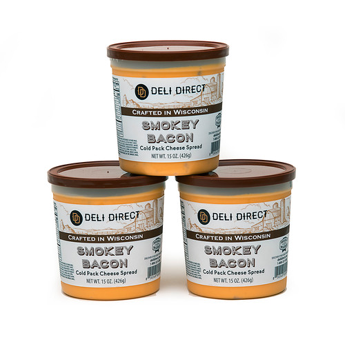 3ct Wisconsin Smokey Bacon Cheese Spreads 15 oz. each - IMAGE 1