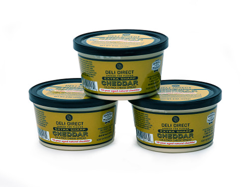 3ct Wisconsin 10 Year Sharp Cheddar Cheese Spreads 15 oz each - IMAGE 1