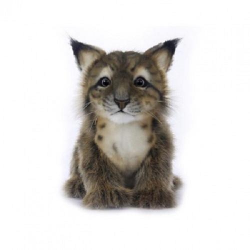 "Set of 4 Handcrafted Lynx Cub Stuffed Animals 6.6"" - IMAGE 1"