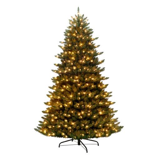 7.5' Pre-lit Cascade Pine Artificial Christmas Tree - Clear Lights - IMAGE 1