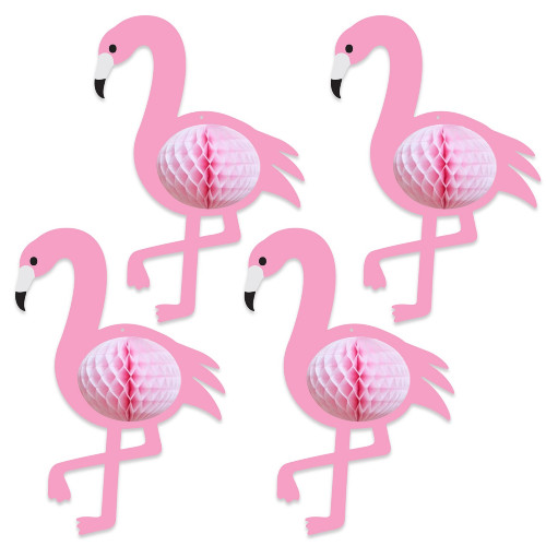 """Pack of 48 Pink Tissue Entertainment Flamingos 10"""" - IMAGE 1"""