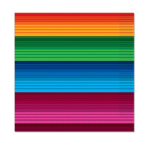 "192 Counts Multi-Color Striped 2-Ply Fiesta Beverage Napkins 5"" - IMAGE 1"