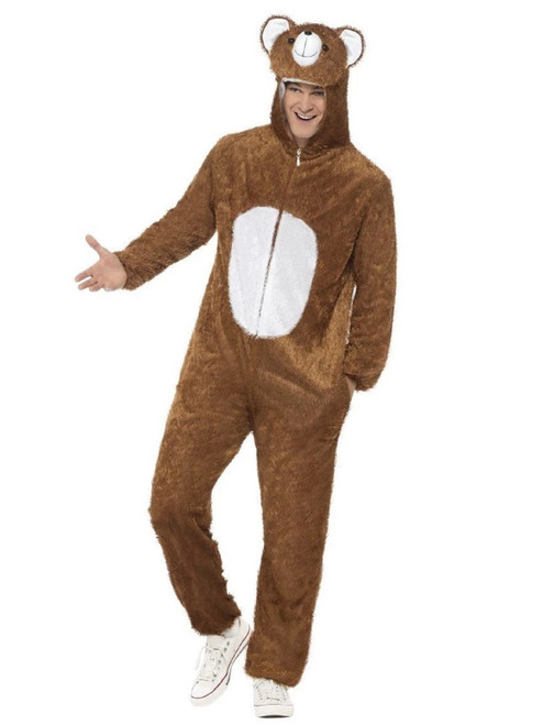 """50"""" Brown and White Bear Unisex Adult Halloween Costume - Large - IMAGE 1"""