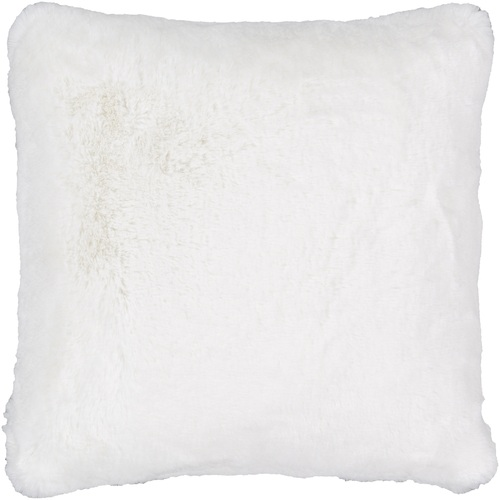 """20"""" White Solid Square Throw Pillow - Down Filler - IMAGE 1"""