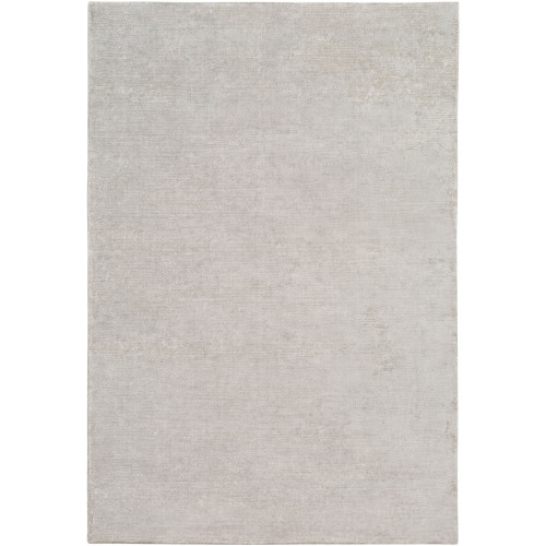 10' x 14' Solid White and Gray Rectangular Area Throw Rug - IMAGE 1