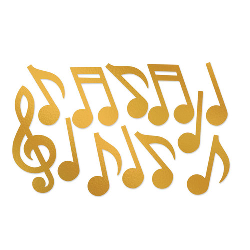 """Club Pack of 144 Two Sided Decorative Musical Note Silhouette Cutouts 21"""" - IMAGE 1"""