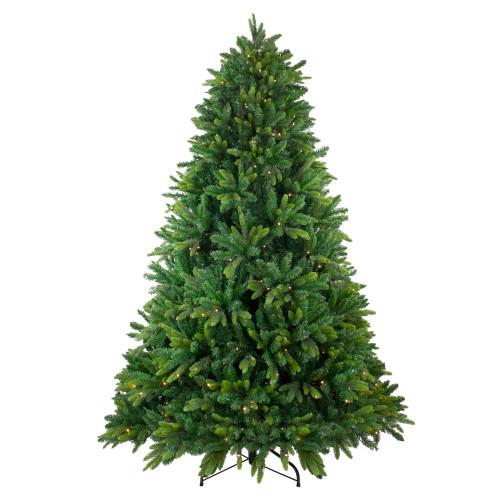 7.5' Pre-Lit Full Gunnison Pine Artificial Christmas Tree - Warm White LED Lights - IMAGE 1