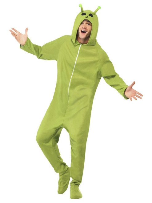 "44"" Green and Black Alien Unisex Adult Halloween Costume - Medium - IMAGE 1"