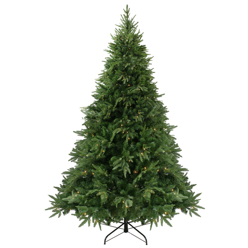 6.5' Pre-Lit Full Silverthorne Fir Artificial Christmas Tree - Warm White LED Lights - IMAGE 1