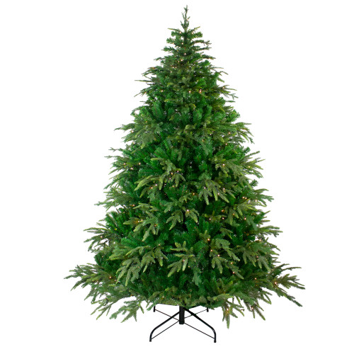 6.5' Pre-Lit Roosevelt Fir Artificial Christmas Tree - Warm White LED Lights - IMAGE 1