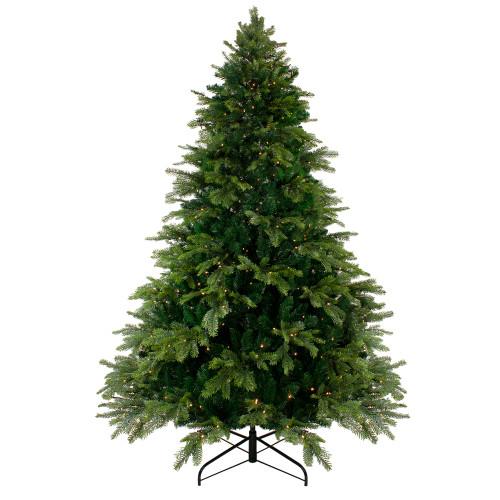6.5' Pre-Lit Pine Artificial Christmas Tree - Warm White LED Lights - IMAGE 1