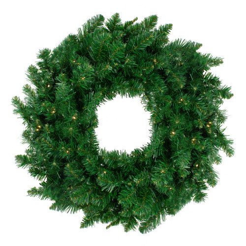 Pre-Lit Twin Lakes Fir Artificial Christmas Wreath - 48-Inch, Warm White LED Lights - IMAGE 1