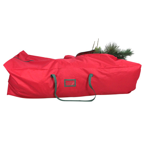 7.5' Red and Green Rolling Artificial Christmas Tree Storage Bag - IMAGE 1