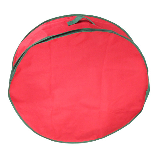 """36"""" Red and Green Christmas Wreath Storage Bag - IMAGE 1"""