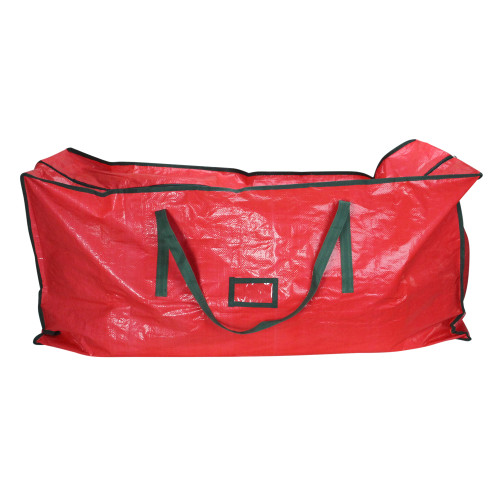 "43"" Red and Green Multipurpose Christmas Storage Bag - IMAGE 1"