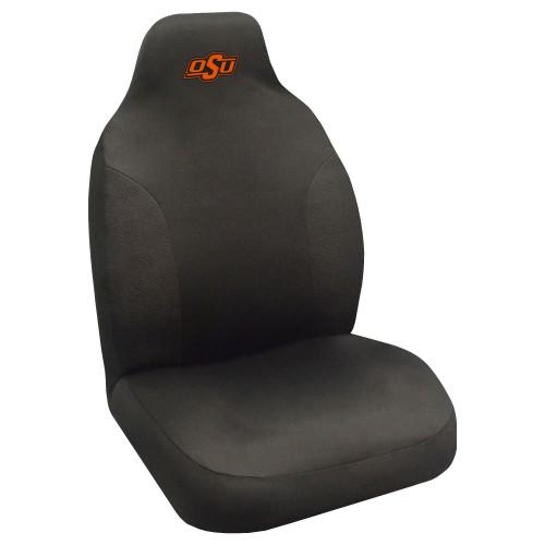 "48"" Black and Orange NCAA Oklahoma State Cowboys Seat Cover - IMAGE 1"