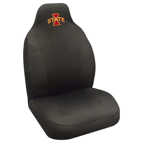 """48"""" Black and Red NCAA Iowa State Cyclones Seat Cover - IMAGE 1"""