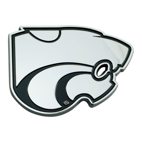 """3"""" Stainless Steel and Black NCAA Kansas State Wildcats 3D Emblem - IMAGE 1"""