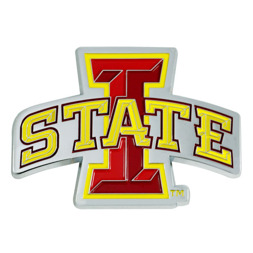 """3"""" Red and Yellow NCAA Iowa State Cyclones 3D Emblem - IMAGE 1"""
