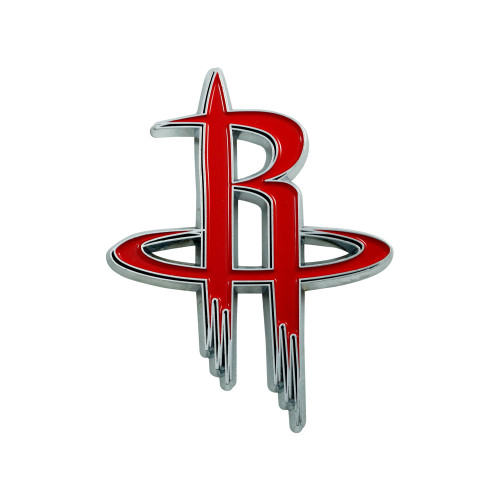 "3"" Red and Gray NBA Houston Rockets 3D Emblem - IMAGE 1"