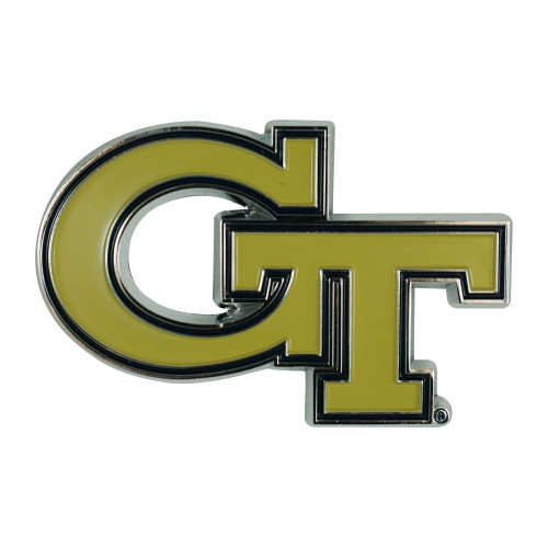 "3"" Gold and Black NCAA Georgia Tech Yellow Jackets 3D Emblem - IMAGE 1"