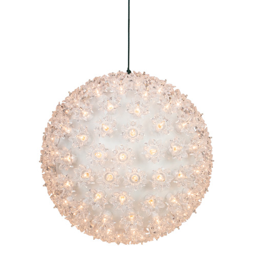 """Clear Lighted Hanging Starlight Ball Sphere Christmas Decoration 10"""" - IMAGE 1"""