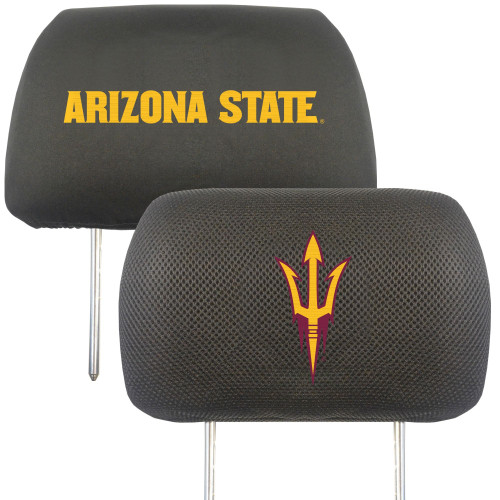 """13"""" Black and Yellow NCAA Arizona State Sun Devils Headrest Cover - IMAGE 1"""